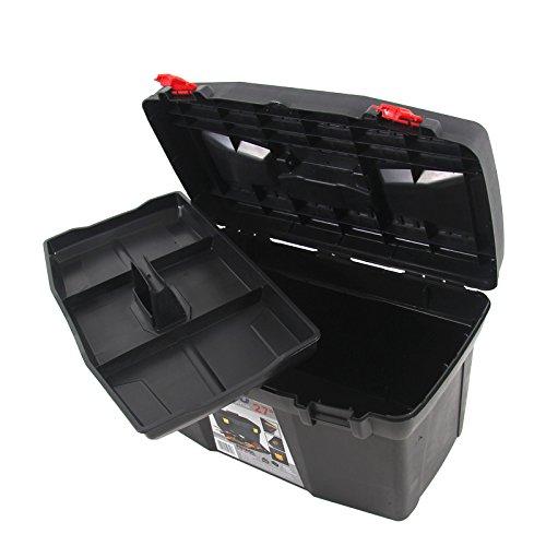 Kunststoff Werkzeugkoffer ERGO Basic 27″, 60x34cm Kasten Werzeugkiste Sortimentskasten Werkzeugkasten Anglerkoffer - 8