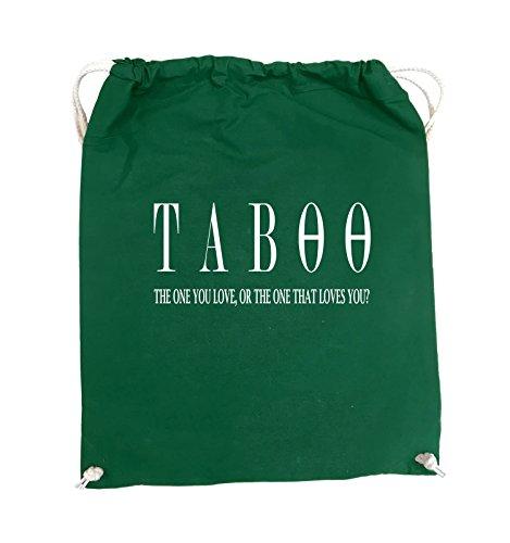Comedy Bags - TABOO - LOGO2 - Turnbeutel - 37x46cm - Farbe: Schwarz / Pink Grün / Weiss