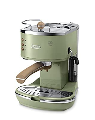 De'Longhi Vintage Icona ECOV310.GR Pump Espresso and Cappuccino Machine, 1.4 Litre, 1100 Watts - Green