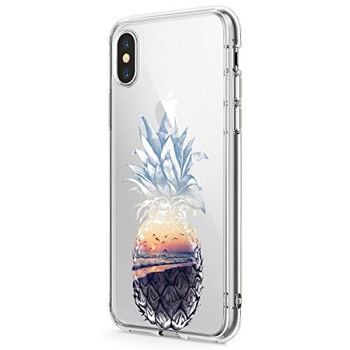 iPhone X Hülle Croazhi TPU Soft Skin Hülle Resistant Silikonhülle Hülle Slim Soft Hülle Schutzhülle Voller Flexible Anti-Scratch Bumper Hülle - Niedliches Muster (4)