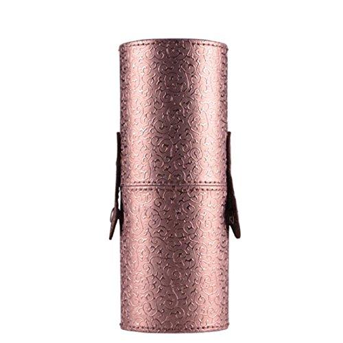 Vovotrade® Custodia In Pelle Cosmetici trucco Portable Storage sacchetti dellorganizzatore pennello tazza titolare (Nero) Caffè