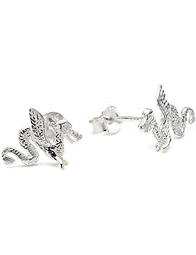 Vinani Damen-Ohrstecker Drachen Sterling Silber 925 Ohrringe ODF