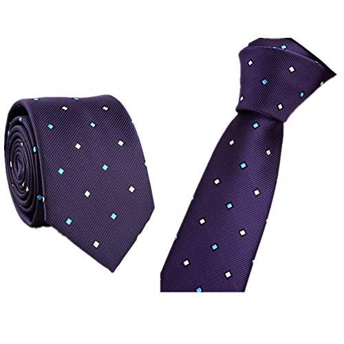 Xmiral Trendy Business Krawatte Beiläufiger dünner Plain Herren Striped dünner Hals(I)
