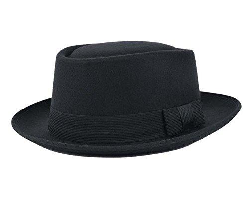Brolux(TM) Breaking Bad Walter White Heisenberg Hat Felt Hats Men Women's Fedora Pork Pie Porkpie Hat With Black Bow Ribbon Church Flat Cap [Bow Black ]