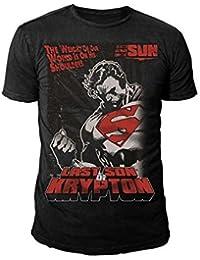 SUPERMAN Retro Men'S T-Shirt THE FORCE S-XL Black Size