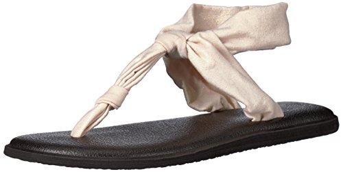 Sanuk Women's Yoga Sling Ella Metallic Flip-Flop, Rose Gold, 08 M US