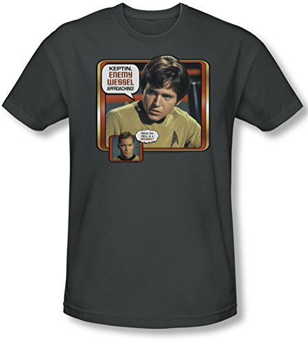 Star Trek - - Männer Feind Wessel T-Shirt in der Holzkohle Charcoal