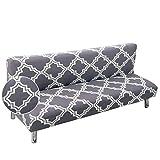 Fundas de Sofá Sin Brazos Plegable Fabric Poliéster Spandex Protector de Muebles Cubre Sofa Cubierta para...