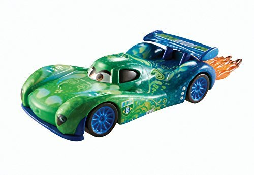 Disney World of Cars, Allinol Blowout Die-Cast Vehicle, Carla Veloso with Flames #1/9, 1:55 Scale by Mattel