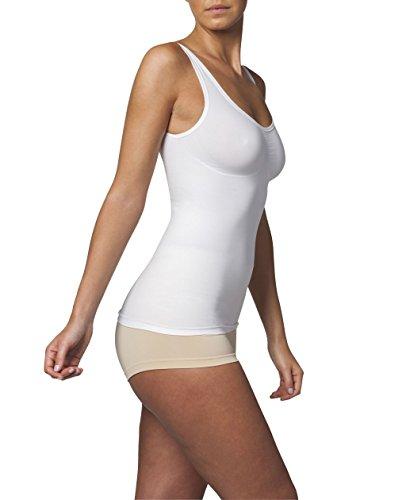 SLEEX Figurformendes Damen Unterhemd (mit Support) (44041), Weiss, Groesse L/XL
