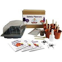 Flores comestibles - Mrs Henris Plant Growing Kit. Cultiva 6 flores comestibles desde la semilla