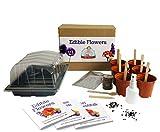 Essbare Blumen - Mrs Henri's Plant Growing Kit. Züchten Sie 6 essbare Blumen aus Samen. Das ideale Geschenk für alle Hobby-Köche. Das Premium-Kit enthält alles