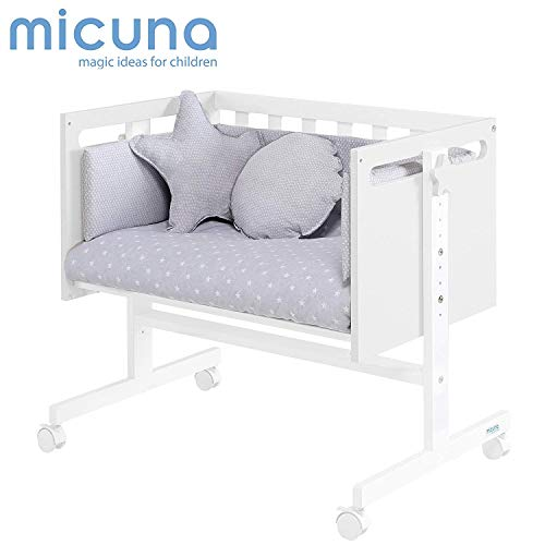Micuna You & Me - Minicuna colecho, unisex, color blanco