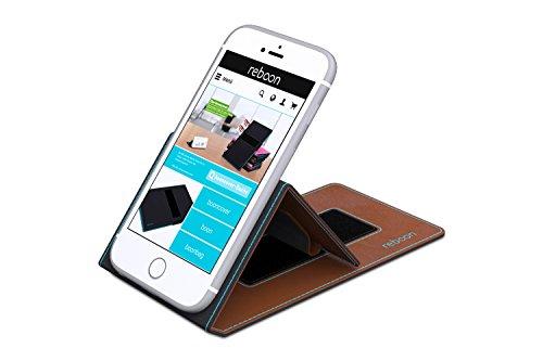 Étui pour Apple iPhone 8 de couleur Cuir Noir - Boîtier innovateur 4 en 1 Coque Smart Cover Case - Support mural anti-gravité, porte-smartphone de voiture, support de table - Boîtier de protection mur Cuir Marron