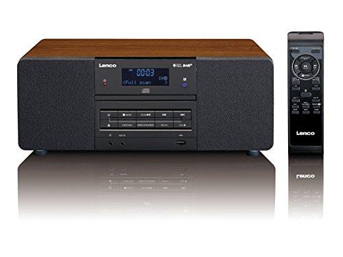 Lenco DAR-050 DAB+/FM Radio mit CD/MP3 Player, PLL FM Radio mit RDS und LCD Display, Ausgangsleistung 2 x 5 Watt RMS, USB-Eingang, MP3 Wiedergabe, 3,5mm Kopfhörerbuchse, AUXEingang) inkl. Fernbedienung