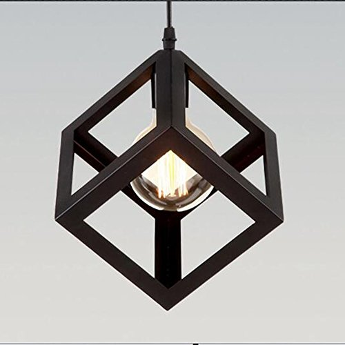 Sencilla Industrial DIY del metal del techo de la lámpara pendiente de la luz de iluminación del bulbo Cafe