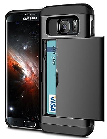Samsung Galaxy S6 Edge Hülle, Coolden® Slim Armor Kartenfach Case