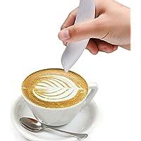 ONEVER Eléctrica Latte Arte Pluma para Café Torta de Especias Pluma Decoración de La Torta Pluma de Tallado de Café Pluma Para Hornear Pasteles