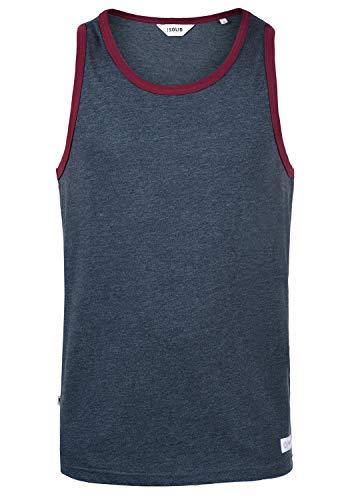 !Solid Malino Herren Tank Top Mit Rundhalsausschnitt, Größe:S, Farbe:Insignia Blue Melange (8991) -