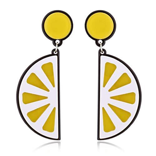 t Ohrstecker Kreativ Ohrringe Mode Zitrone Tomaten Frauen Mädchen Schmuck Geschenke - Zitrone ()