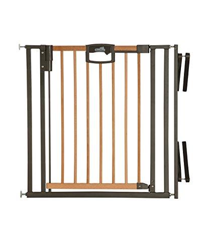 Geuther - Treppenschutzgitter Easylock 2793+, für Kinder, Hunde und Katzen, Befestigung ohne Bohren, umbaubar in Treppengitter, Metall, 84,5 - 92,5 cm, weiß/silber
