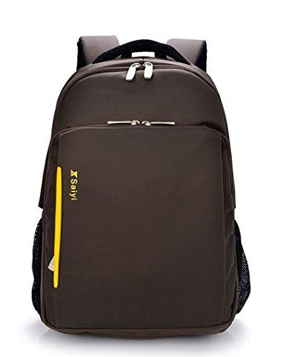 LINGE-15 Zoll Laptop Tasche Multi-Funktions-Rucksack Business und Freizeit Reisen wasserdichte gepolsterte Fächer für Männer und Frauen Sport coffee color