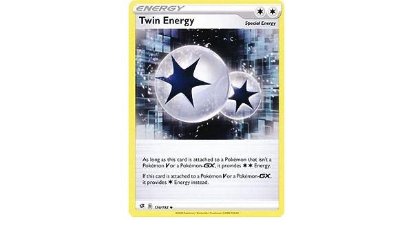 Twin energy holo foil 174//192 rebel clash pokemon card online tcg digital