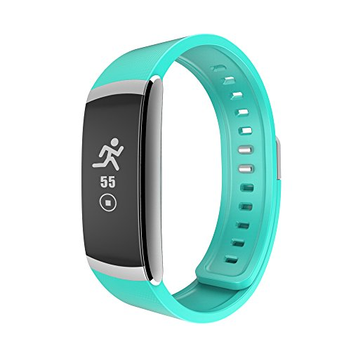 IWOWNfit Fitness Tracker Heart rate monitor I6 PRO smart Wristband Fitness Tracker P67 Waterproof Bluetooth Smart Band Bracelet for Android IOS GREEN