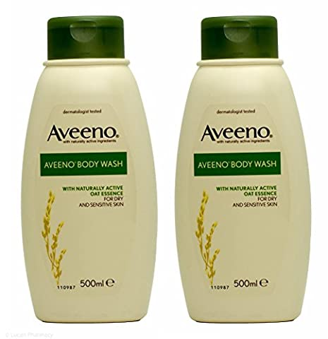 Multibuy 2x Aveeno® Body Wash for Dry and Sensitive Skin - 500ml
