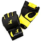 Bruce Lee Signature MMA Grappling Gloves Synthetic Leather - Yellow / Black