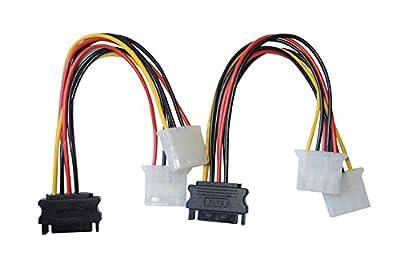 DeLOCK Câble électrique 15Pin SATA–> 2x Molex 4pin ST/BU 0,20m par DeLock