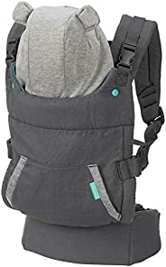 Infantino CUDDLE UP 2 in 1 ergonomic hoodie baby carrier™ with unique arched cannopy hood-Teddy Bear|Front and