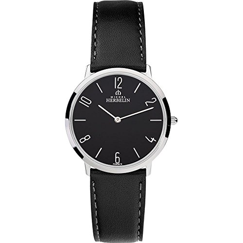 Michel Herbelin Women's 36mm Leather Band Steel Case Quartz Watch 17415/24