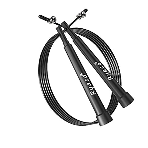 Ryaco [3 m de câble léger (10ft) facilement] R912 Speed Rope, Speed Rope Crossfit, Corde à sauter - roulements à billes en acier - fitness / boxe - unisexe