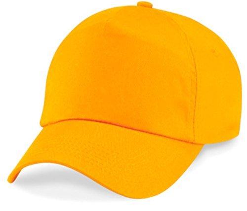 ShirtInStyle Basecap Cap 5 Panel Cap Verschluss Klettverschluss Größe Unisex, Farbe gelb