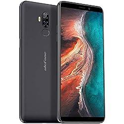 【2019】 Ulefone P6000 Plus, téléphone Portable debloqué 4G Dual SIM (Grande Batterie de 6350mAh et Charge Rapide) - Écran de 6,0 Pouces Android 9.0 - Quad-Core 3 Go + 32 Go Face ID GPS OTG Noir