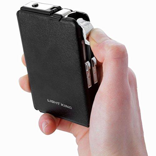 Zigarettenetui mit integriertem Feuerzeug Case Lighter Raucher Set