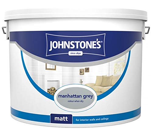 Johnstone\'s Matt Emulsionsfarbe, 10 l, Manhattan Grey