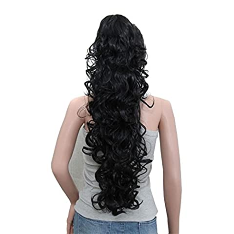AN-LKYIQI Griffe long bouclés queue de cheval Clip in Hair
