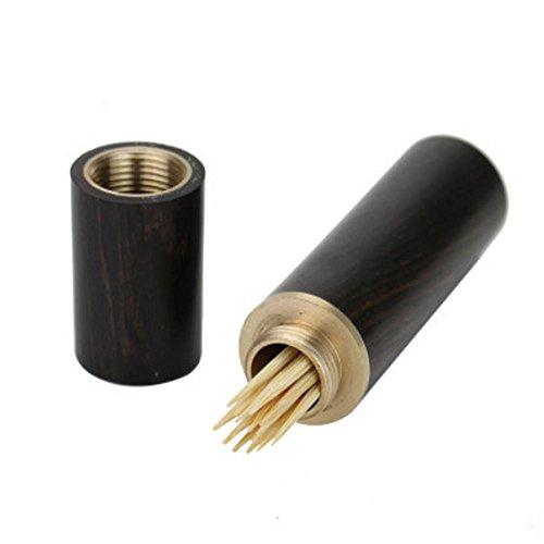 HZZymj-2 stücke ebenholz lila sandelholz kreative tragbare kupfer mahagoni klassischen restaurant bambus zahnstocher box zahnstocher fass - Mahagoni-fass