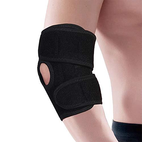 Ellenbogen-wrap (QH-shop Ellenbogen Gelenk Bandage Sport Ellenbogenschutz Atmungsaktiv Einstellbare Neopren Ellenbogenbandage für Fitness Sport Schwarz Unisex)