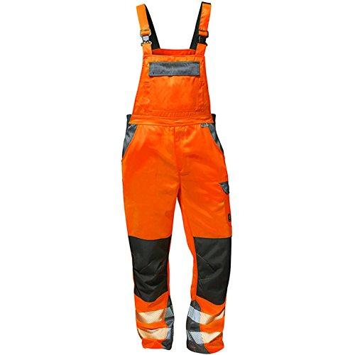 Elysee Warnschutz Latzhose 'Metz' Größe, 1 Stück, 56, orange/grau, 22739-56