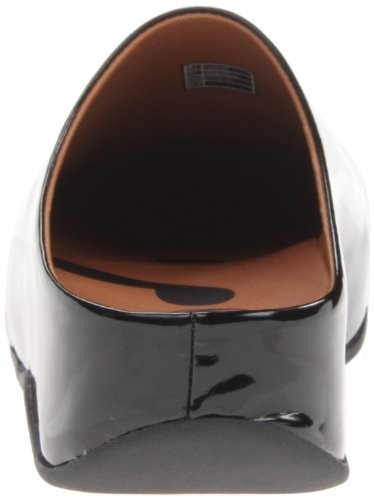FitFlop Shuv Patent 322 Damen Clogs Black