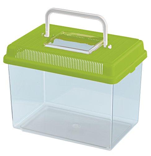Ferplast 60021099W2 Fischbecken Geo Medium, Maße: 23.2 x 15.3 x 16.6 cm, 2.5 Liter, grün