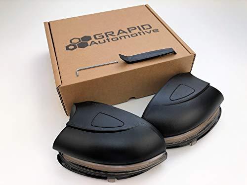 Preisvergleich Produktbild Dynamische LED Spiegelblinker für Golf VI,  Touran,  etc. (Leicht dunkles Glas)