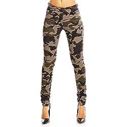 Luizacco - Pantalón - para Mujer Militar M/38