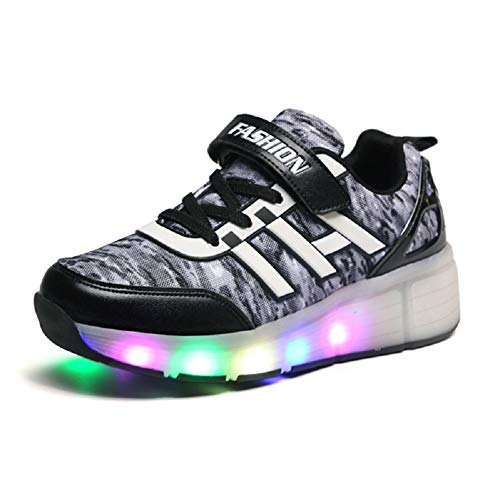 Unisex Kinder LED Rollschuh Schuhe mit Rädern Jungen Mädchen Mode Skateboard Schuhe LED Licht Blinkt Outdoor-Sportarten Gymnastik Sneakers