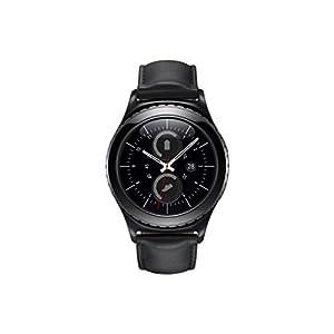 Samsung Gear S2 Classic - Relojes Inteligentes (Cuero, Alrededor, Ión de Litio, Negro, Negro, 802.11b, 802.11g, 802.11n) [Versión importada: Podría presentar Problemas de compatibilidad]