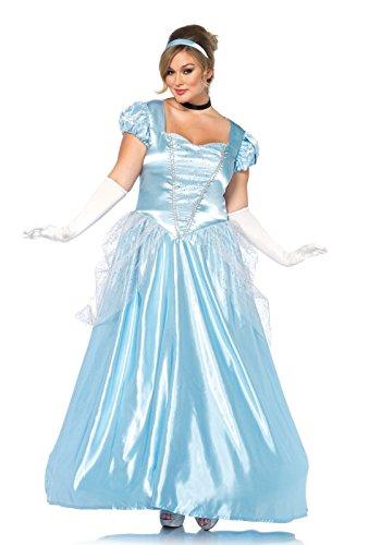 Leg Avenue 85518X - Classic Cinderella Kostüm, Größe 3X/4X (Blau)
