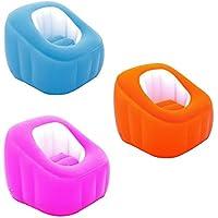 Design Camping Luftsessel Lounge Sessel Sitzsack Luftmatratze Sofa mit Sitzkissen Aufblasbar (Pink)